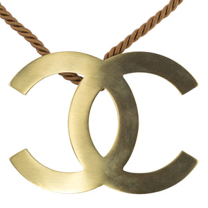 Chanel Vintage Oversized CC Choker Rope Necklace c. 2000