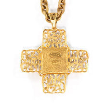 Load image into Gallery viewer, Chanel Vintage Red Gripoix Cross Pendant Necklace - Collection 25