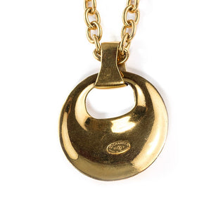 Chanel Vintage Long Door Knocker Pendant Necklace - Spring 93