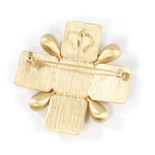 Load image into Gallery viewer, Chanel Vintage Signed Gold Maltese Cross Brooch - Pin - Spring 07