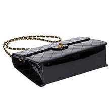 Load image into Gallery viewer, Chanel Vintage Black Patent Leather Jumbo Bag c. 1990s