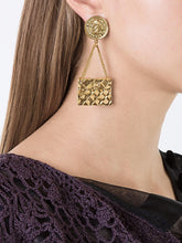 Load image into Gallery viewer, Chanel Vintage Signed Gold Quilted Bag Chain Earrings c. 1980 (Clip-on)