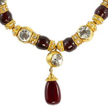 Load image into Gallery viewer, Chanel Vintage Red Gripoix & Crystal Choker Necklace. 1970