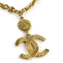 Load image into Gallery viewer, Chanel Vintage Gold-tone Short Necklace with CC Logo & Coin c. 1970