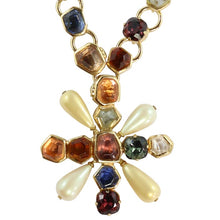 Load image into Gallery viewer, Chanel Vintage Signed Multi Coloured Gripoix Maltese Pendant Necklace - 2001