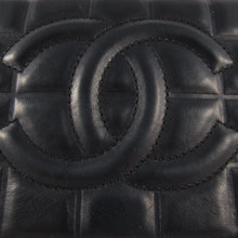 Load image into Gallery viewer, Vintage Chanel Black Lambskin Chocolate Bar Evening Bag c. 1980's