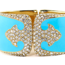Load image into Gallery viewer, Ciner NYC 18K Gold Plated Turquoise Enamelled - Crystal Deco Design Bracelet