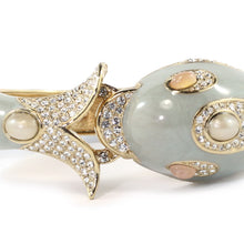 Load image into Gallery viewer, Ciner NYC 18K Gold Plated Grey Enamelled, Crystal Dolphin Design Bracelet