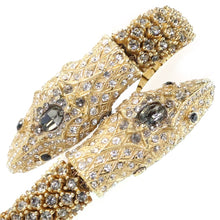 Load image into Gallery viewer, Ciner NYC 18K Gold Plated Crystal Double Snake Bracelet
