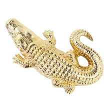 Load image into Gallery viewer, Ciner NYC 18K Gold Plated Alligator Pin Brooch
