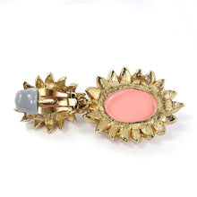 Load image into Gallery viewer, Ciner NYC Pale Cabochon Cabochon Statement Earrings - (Clip-On Earrings)