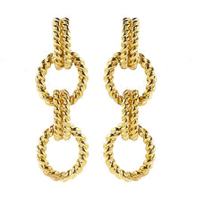 Load image into Gallery viewer, Ciner NYC 18K Gold Plated Rope Chain Earrings