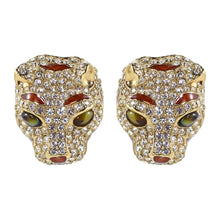 Load image into Gallery viewer, Ciner NYC Crystal Emerald Eyes Tiger Earrings