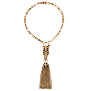 Ciner NY Exotic Giraffe Tassel Necklace