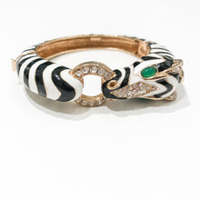 Load image into Gallery viewer, Ciner NY 18K Gold Plating Zebra Box & Tongue Clasp Bracelet