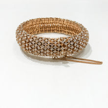 Load image into Gallery viewer, Ciner NY 18K Gold Plating & Clear Crystal Rhinestone Box & Tongue Clasp Bracelet