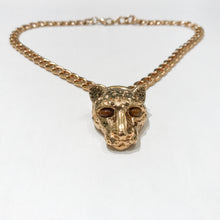 Load image into Gallery viewer, Ciner NY Gold Plated Small Cougar Chain Necklace