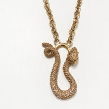 Load image into Gallery viewer, Ciner NY Gold Plated Medium Chain Wrap Around Golden Dragon Pendant Necklace