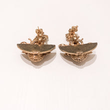 Load image into Gallery viewer, Ciner NY Gold Plated Drop Bee Earrings with Clear Crystal Eyes (Pierced)