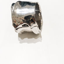 Load image into Gallery viewer, Ciner NY Polished Silver Tone Sculpted Statement Cuff