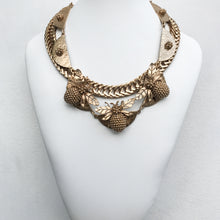 Load image into Gallery viewer, Ciner NY Gold Plated & Clear Crystal Eyes Chunky Thick Chain Bee Necklace