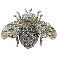 Load image into Gallery viewer, Ciner NY Chrome 100th Anniversary Bee Brooch - Pin - Medium