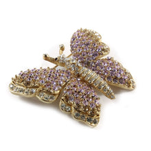 Load image into Gallery viewer, Ciner NY Light Amethyst Crystal Encrusted Butterfly Pin - Brooch