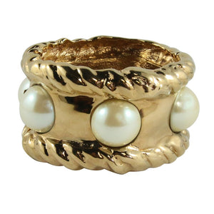 Ciner NY 24kt Gold - Faux Pearl Statement Cuff