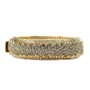 Ciner NY Sparkling Crystal & Gold Plated Bangle