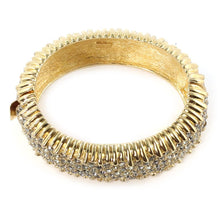 Load image into Gallery viewer, Ciner NY Sparkling Crystal & Gold Plated Bangle