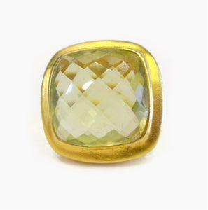 Gold Plated Citrine Ring