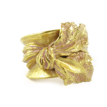 Load image into Gallery viewer, Vintage Christian Lacroix Bracelet, Wide Cuff With 3D Sculpted Bow - Circa 1980's