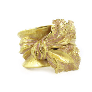 Vintage Christian Lacroix Bracelet, Wide Cuff With 3D Sculpted Bow - Circa 1980's