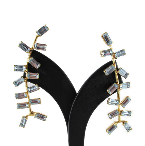 Harlequin Market Multi Crystal Climber Earrings-(Pierced earrings)
