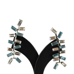 Harlequin Market Multi Crystal Climber Earrings- (Pierced earrings)