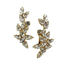Load image into Gallery viewer, Harlequin Market Clear Crystal Climber Earrings