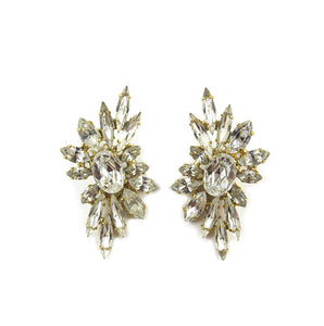 Harlequin Market Clear Crystal Climber Earrings