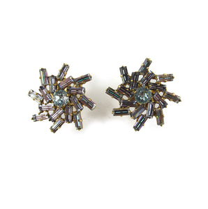 Harlequin Market Crystal Earrings -(Pierced earrings)