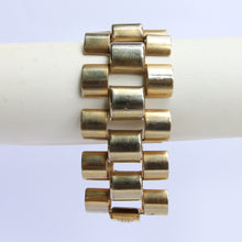 Load image into Gallery viewer, Vintage German Brass Barrel Form Chain Bracelet c.1940