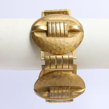 Load image into Gallery viewer, Stunning Handmade Hammered Detail French Bracelet c.1940s