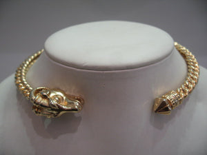 Vintage Aries Rams Head Chocker Necklace