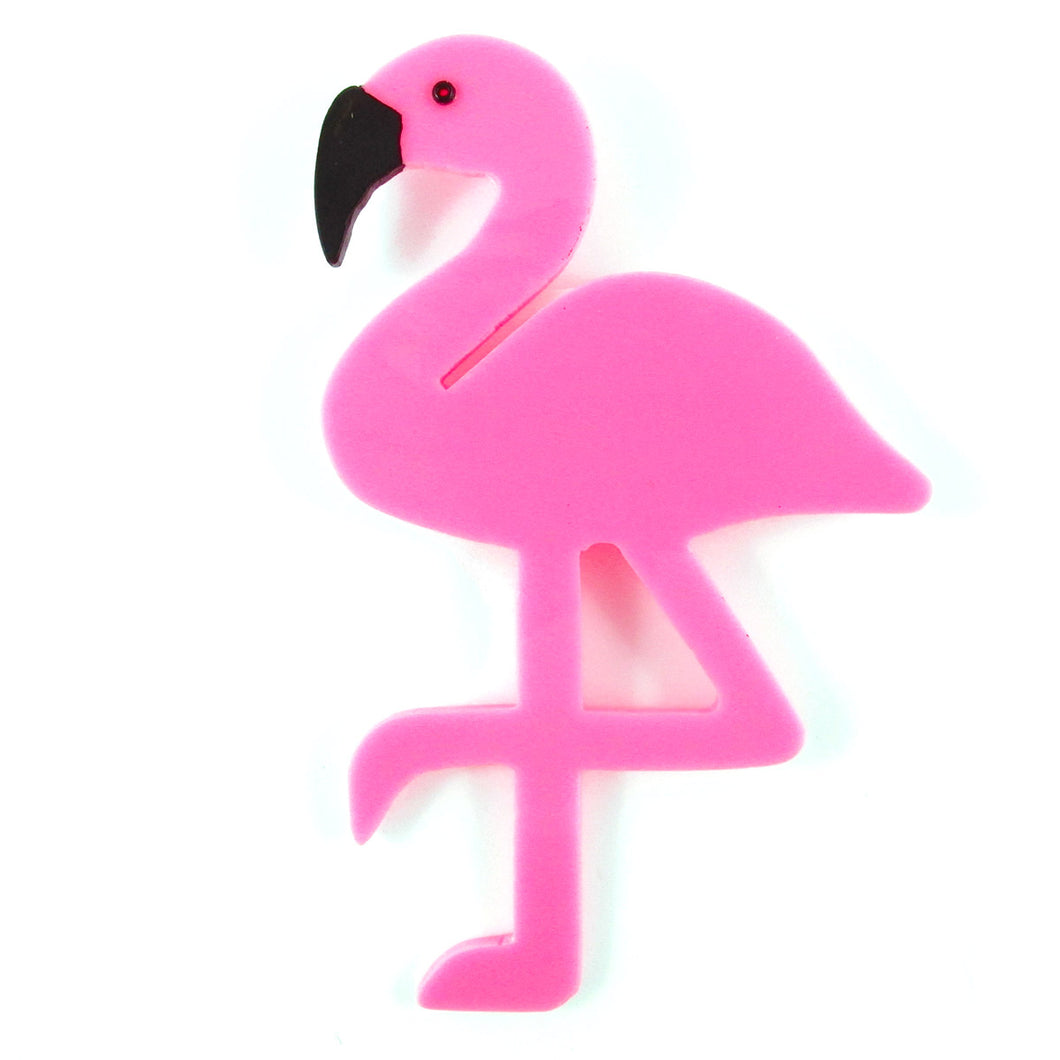 HQM Contemporary Acrylic Pop Art Pink Flamingo Brooch