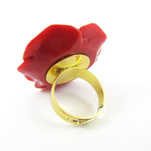 Rose Haylland Red Flower Ring