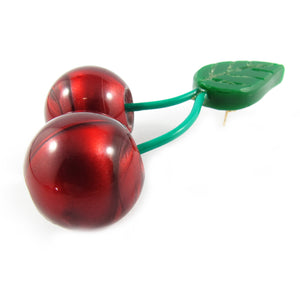 HQM Contemporary Acrylic Pop Art Cherry Earrings