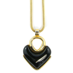 Givenchy Vintage Runway Heart Pendant Necklace c. 1970