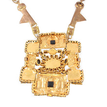 Load image into Gallery viewer, Signed 'Hanna Bernhard Paris' Aztec Style Style Neckpiece