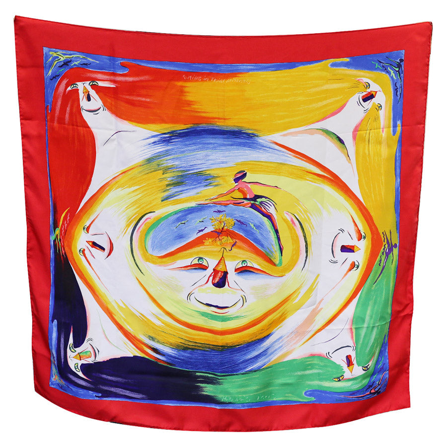 Hermès Smiles in Third Millenary Carre - Scarf designed by I. A. Kwumi Sefedin - 2000