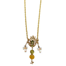 Load image into Gallery viewer, Christian Lacroix Vintage Long Cross Pendant Necklace c.1980s