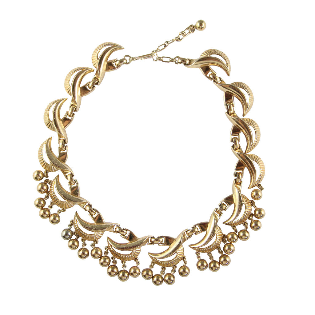 Beautiful Vintage Trifari Bell Collar Necklace c.1970s