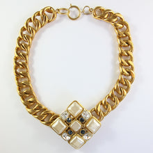 Load image into Gallery viewer, Spectacular Vintage Faux Pearl & Gold Tone Chanel Pendant Necklace c.1980s